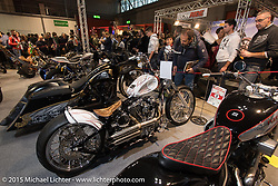 Custom show at EICMA, the largest international motorcycle exhibition in the world. Milan, Italy. November 21, 2015.  Photography ©2015 Michael Lichter.