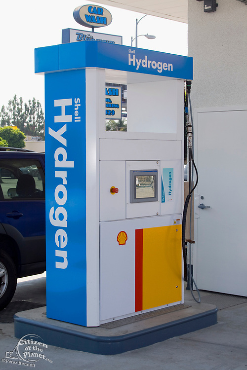 Shell Hydrogen Refuelling Station, opened June 26, 2008. It is the first retail Hydrogen refuelling station in California. West Los Angeles, USA