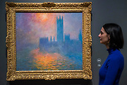 Houses of Parliament Sunset, 1904 - The Credit Suisse Exhibition: Monet & Architecture a new exhibition in the Sainsbury Wing at The National Gallery.