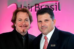 Presidente da Intercoiffure Mundial, Klaus Peter OCHS com Diretor da Hair Brasil durante a abertura Oficial na HAIR BRASIL 2012 - 12 ª Feira Internacional de Beleza, Cabelos e Estética, que acontece de 24 a 27 de março no Expocenter Norte, em São Paulo. FOTO: Jefferson Bernardes/Preview.com