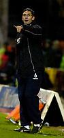 Photo: Alan Crowhurst.<br />Swindon Town v Bury FC. Coca Cola League 2. 25/11/2006. Bury coach Chris Casper orders his team.