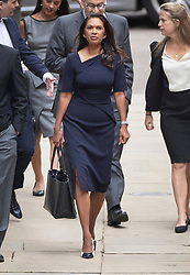 © Licensed to London News Pictures. 05/09/2019. London, UK. Gina Miller and her legal team arrive at The High Court in central London to start legal action over the government's decision to suspend Parliament. Photo credit: Peter Macdiarmid/LNP