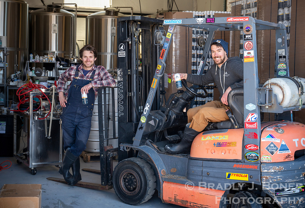 Brothers Alex and Andrew Perez of Highpoint Ciderworks in Victor, Idaho.
