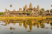 19 MARCH 2006 - SIEM REAP, SIEM REAP, CAMBODIA: The main Angkor Wat complex recflected in the moat that surrounds the complex near Siem Reap, Cambodia. Cambodian authorities estimate that more than one million tourists will visit Angkor Wat in 2006, making it the leading tourist attraction in Cambodia by a large margin.   Photo by Jack Kurtz / ZUMA Press