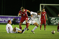 2011 FIFA Women's World Cup Qualifying match, Wales v Czech Republic at Stebonheath Park, Llanelli on Wed 23rd September 2009. pic by Andrew Orchard..Wales captain Jayne Ludlow (8)
