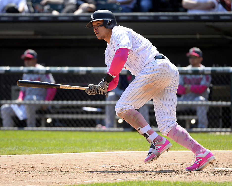 CHICGO - MAY 14:  Avisail Garcia #26 of the Chicago White Sox bats against the San Diego Padres on May 14, 2017 at Guaranteed Rate Field in Chicago, Illinois.  The White Sox defeated the Padres 9-3 .  (Photo by Ron Vesely)  Subject: Avisail Garcia