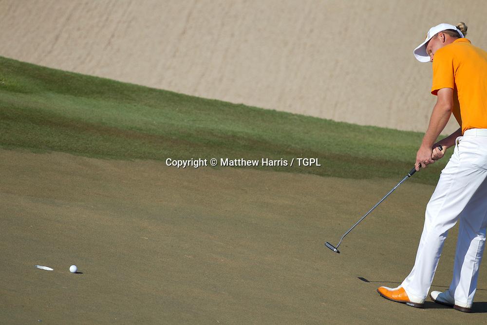 Marcel SIEM (GER) putting during fourth round,Abu Dhabi HSBC Championship 2013,Abu Dhabi Golf Club,Abu Dhabi,20th January 2013.