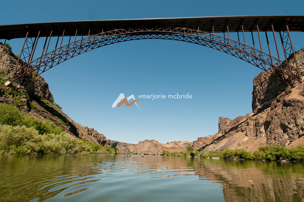 View from the Snake River below the Perrine Bridge in Twin Falls, Idaho.