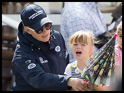 August 5, 2017 - United Kingdom - Image licensed to i-Images Picture Agency. 05/08/2017. Gatcombe Park, United Kingdom. Zara Tindall and her daughter  Mia with an umbrella on a wet and windy  second day of the Festival of British Eventing at Gatcombe Park, United Kingdom.  Picture by Stephen Lock / i-Images (Credit Image: © Stephen Lock/i-Images via ZUMA Press)