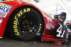March 2, 2018 - Las Vegas, Nevada, United States of America - March 02, 2018 - Las Vegas, Nevada, USA: Kurt Busch (41) climbs aboard his Haas Automation Ford before practice for the Pennzoil 400 at Las Vegas Motor Speedway in Las Vegas, Nevada. (Credit Image: © Chris Owens Asp Inc/ASP via ZUMA Wire)