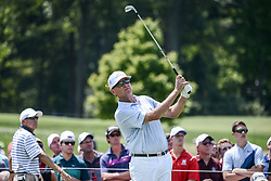 August 10, 2018 - Town And Country, Missouri, U.S - DAVIS LOVE III from St. Simons Island Georgia, USA tees off on hole number three during round two of the 100th PGA Championship on Friday, August 10, 2018, held at Bellerive Country Club in Town and Country, MO (Photo credit Richard Ulreich / ZUMA Press) (Credit Image: © Richard Ulreich via ZUMA Wire)