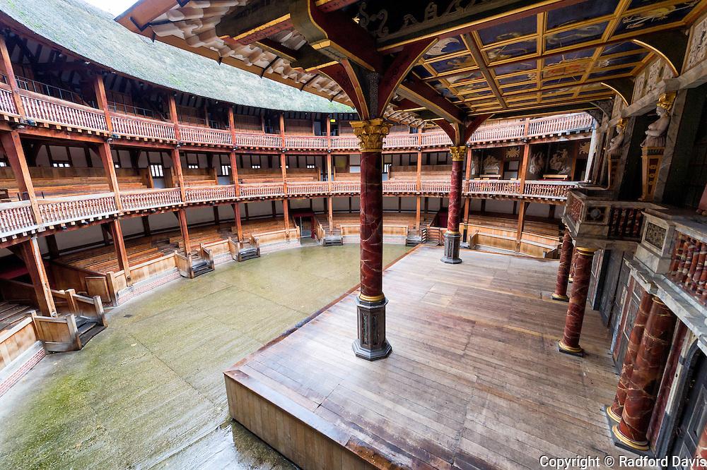 Globe theater in London, England