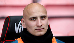 Newcastle United's Jonjo Shelvey in the dugout during the Premier League match at the Vitality Stadium, Bournemouth.