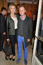 GUY & ELIZABETH PELLY at a party at Guinevere 574-580 ing's Road, London on 7th October 2014.