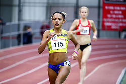 David Hemery Valentine Invitational<br /> Indoor Track & Field at Boston University , womens 3000 meters, heat 1,  , BAA, Erika Kemp, adidas,