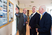 11/07/2017  REPRO FREE:   Mr George McCourt  Head of innovation GMIT Minister of State Pat Breen, Department of Enterprise and Innovation, Barry Egan Enterprise Ireland,  on a visit to the iHub and GMIT . Photo:Andrew Downes, xposure .