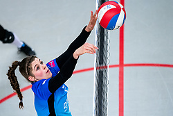 Nynke Hofstede of Zwolle in action during the first league match between Djopzz Regio Zwolle Volleybal - Laudame Financials VCN on February 27, 2021 in Zwolle.