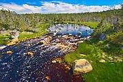 Rocks and river, Near Tor Bay, Nova Scotia, Canada