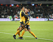 Arsenal's Alexis Sanchez celebrates scoring his third goal during the Premier League match at the London Stadium, London. Picture date December 3rd, 2016 Pic David Klein/Sportimage