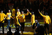 Golden State Warriors guard Klay Thompson (11) enters the court during pregame activities during Game 2 of the Western Conference Semifinals against the Utah Jazz at Oracle Arena in Oakland, Calif., on May 4, 2017. (Stan Olszewski/Special to S.F. Examiner)