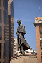 June 3, 2016 - Ghandi statue on central Ghandi Square in Johannesburg, Gauteng, South Africa, Africa (Credit Image: © AGF via ZUMA Press)