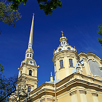 Europe, Russia, St. Petersburg. The Peter and Paul Fortress Cathedral.