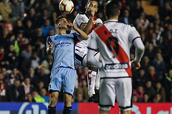 March 1, 2019 - Madrid, Madrid, Spain - Mario Suarez of Rayo Vallecano and Pere Pons of Girona in action during La Liga Spanish championship, , football match between Rayo Vallecano and Girona , March 01th, in Estadio de Vallecas in Madrid, Spain. (Credit Image: © AFP7 via ZUMA Wire)