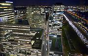 Nederland, Amsterdam, 28-1-2013Serie beelden van de zuidas en rondweg a10 vanuit een hoge lokatie, het anb-amro gebouw.De Ito-toren, ontworpen door de architect Toyo Ito, maakt deel uit van het Mahler4-complex aan het Gustav Mahlerplein in het Zuidas-gebied te Amsterdam.De Ito toren vormt, samen met het gebouw Viñoly, een kloof tussen de gebouwen van Mahler4. Het is een van de hoogste gebouwen aan de Zuidas. In de Itotoren zijn verscheidene bedrijven gevestigd, waaronder Accenture en Houthoff Buruma.Foto: Flip Franssen/Hollandse Hoogte
