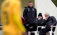 Fotball<br /> 17. Februar 2014<br /> Treningskamp<br /> La Manga<br /> Bodø/Glimt - Tromsø 3 - 0<br /> Tromsøs noe betenkte trener team Truls Hallen , Fysisk trener , hovedtrener Steinar Nilsen (M) og assistent Bård Flovik (R)<br /> Foto Astrid M. Nordhaug