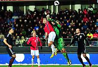Fotball , 19. november 2013 , Privatkamp Norge - Skottland<br /> <br /> Norway - Scotland<br /> Marcus Pedersen , Norge<br /> David Marshall , Skottland