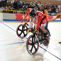16-12-2016: Wielrennen: NK baanwielrennen: Apeldoorn  <br /> APELDOORN (NED) baanwielrennen    <br /> Jeffrey Hoogland heeft op het NK Baanwielrennen een eerste titel veroverd: de Nijverdaller won de sprint. In de finale rekende hij af met Harrie Lavreysen.<br /> Brons ging naar Hugo Haak.