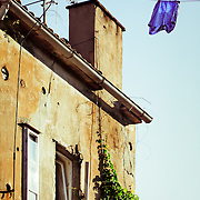 Drying laundry in residential Zadar, Croatia.