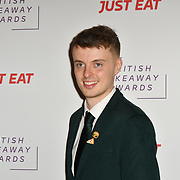 Alex Hobern attends the British Takeaway Awards, in association with Just Eat at London's Savoy Hotel on 12 November 2018, London, UK.