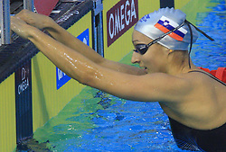Nina Sovinek of Slovenia after women`s 200m Freestyle heats race during the day 4 of LEN European Short Course Swimming Championships Rijeka 2008, on December 14, 2008,  in Kantrida pool, Rijeka, Croatia. (Photo by Vid Ponikvar / Sportida)