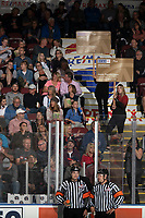 KELOWNA, BC - SEPTEMBER 21:  BCAA promotion in the stands at Prospera Place on September 21, 2019 in Kelowna, Canada. (Photo by Marissa Baecker/Shoot the Breeze)