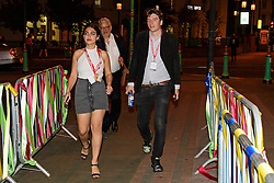 © Licensed to London News Pictures. 24/09/2016. Liverpool, UK. Momentum national organiser JAMES SCHNEIDER arrives to celebrate the re-elected of Labour Party Leader Jeremy Corbyn at a party organised by Momentum in Liverpool.  Photo credit: Ben Cawthra/LNP