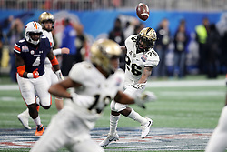 UCF Knights wide receiver Otis Anderson (26) fails to make a catch during the 2018 Chick-fil-A Peach Bowl NCAA football game against the Auburn Tigers on Monday, January 1, 2018 in Atlanta. (Jason Parkhurst / Abell Images for the Chick-fil-A Peach Bowl)