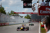 MOTORSPORT - F1 2013 - GRAND PRIX OF CANADA - MONTREAL (CAN) - 07 TO 09/06/2013 - PHOTO FRANCOIS FLAMAND / DPPI - VETTEL SEBASTIAN (GER) - RED BULL RENAULT RB9 - ACTION FINISH LINE