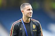 Eden Hazard (#10) of Belgium ahead of the International Friendly match between Scotland and Belgium at Hampden Park, Glasgow, United Kingdom on 7 September 2018.