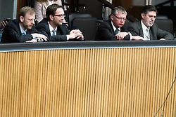29.03.2017, Parlament, Wien, AUT, Parlament, Nationalratssitzung, Sitzung des Nationalrates mit den Themen Deregulierungsgesetz 2017 und Eurofighter Untersuchungsausschuss, im Bild v.l.n.r. U-Ausschuss Verfahrensanwalt Andreas Joklik, Verfahrensanwalt- Stellvertreter Michael Kasper, Verfahrensrichter- Stellvertreter Philipp Bauer und Verfahrensrichter Ronald Rohrer // during meeting of the National Council of austria at austrian parliament in Vienna, Austria on 2017/03/29, EXPA Pictures © 2017, PhotoCredit: EXPA/ Michael Gruber