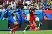 João Mário from Portugal during the match against France. Portugal won the Euro Cup beating in the final home team France at Saint Denis stadium in Paris, after winning on extra-time by 1-0.