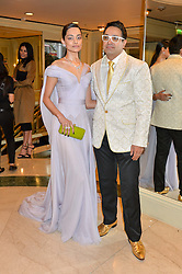 PAUL SAGOO and ZINNIA KUMAR at the 6th annual Asian Awards held at The Grosvenor House Hotel, Park Lane, London on 8th April 2016.