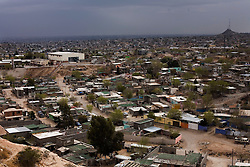 A view of Ciudad Juarez, Mexico.  Mexico is undergoing a violent war with the nation's drug cartels and Ciudad Juarez has become the murder capital of Mexico, with over 4,000 murders in the past two years.  President Felipe Calderon has dispatched thousands of soldiers and federal police officers in order to contain the situation, but they have not been successful.