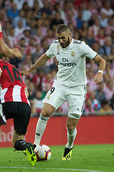 September 15, 2018 - Benzema of Real Madrid in action during the match played in Anoeta Stadium between Athletic Club and Real Madrid CF in Bilbao, Spain, at Sept. 15th 2018. Photo UGS/AFP7 (Credit Image: © AFP7 via ZUMA Wire)