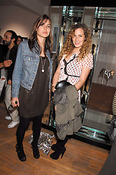 Left to right, CHARLOTTE CASIRAGHI daughter of Princess Caroline of Monoco and CHARLOTTE DELLAL at a party to celebrate the opening of a new art gallery, 20 Hoxton Square, Hoxton Square, London on 27th April 2007.<br />