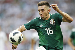 Hector Herrera of Mexico during the 2018 FIFA World Cup Russia group F match between Germany and Mexico at the Luzhniki Stadium on June 17, 2018 in Moscow, Russia