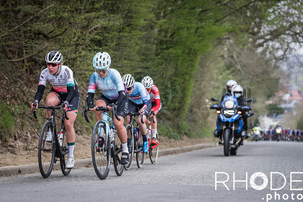 early breakaway group Emilie Moberg (SWE/Drops-Le Col), Femke Markus (NED/Parkhotel Valkenburg)<br /> <br /> 18th Ronde van Vlaanderen 2021<br /> Elite Womens Race (1.WWT)<br /> <br /> One Day Race from Oudenaarde to Oudenaarde 152km<br /> <br /> ©RhodePhoto