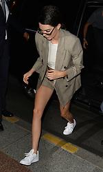 Kendall Jenner seen arriving at her Paris hotel after a buy day walking the cat walks at Paris fashion week <br /><br />6 July 2017.<br /><br />Please byline: PalaceLee/Vantagenews.com