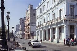 The Paseo Jose Marti (previously called Paseo del Prado); a major street in Havana Vieja (the old city); Havana Cuba,