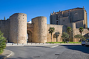 Puerta de Almocabar fortifications historic city walls Ronda, Malaga province, Spain